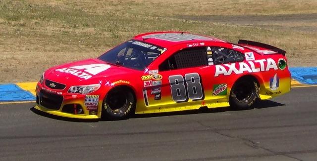 Dale Earnhardt, Jr. last year at Sonoma Raceway.